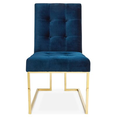 Goldfinger Dining Chair Upholstery: Velvet - Navy