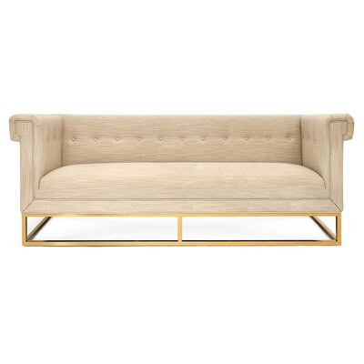 Caine Chesterfield Sofa Upholstery Color: Linen-Oatmeal