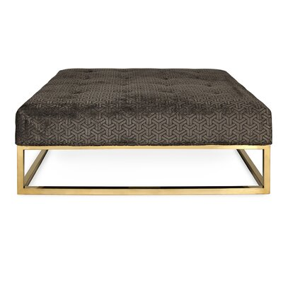 Caine Cocktail Ottoman Upholstery Type/Color: Velvet-Charcoal