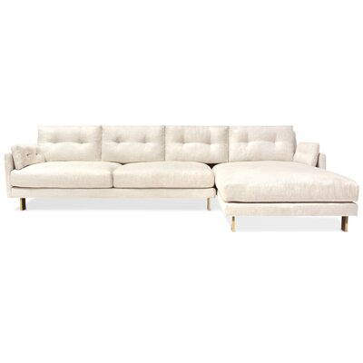 Malibu Sectional Upholstery: White, Orientation: Right Hand Facing