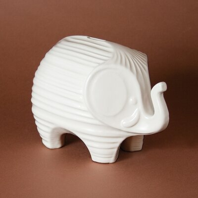 Elephant Bank Color: White