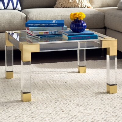 Jacques Coffee Table Finish: Brass