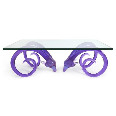 Aries Cocktail Table Base Color: Purple