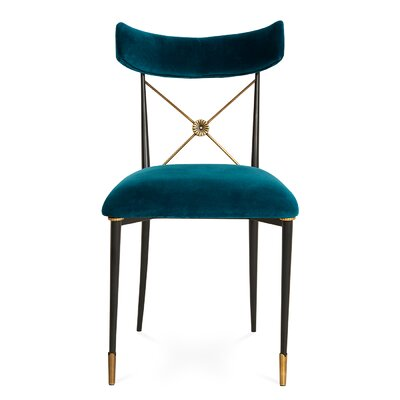 Rider Side Chair Color: Peacock