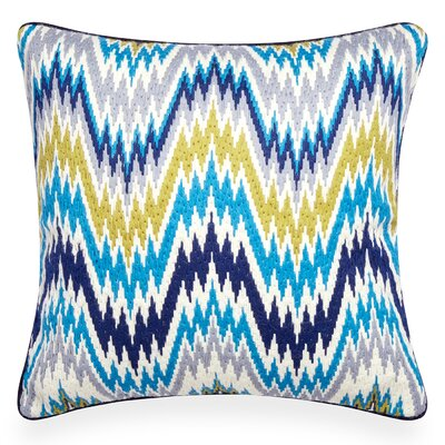 Bargello Pillow Color: Turquoise/Citron