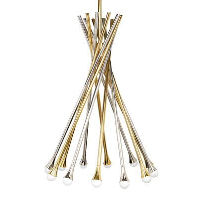 Electrum 12-Light Sputnik Chandelier