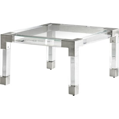 Jacques Coffee Table Color: Nickel