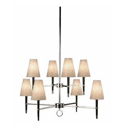 Ventana 8-Light Candle-Style Chandelier Finish: Polished Nickel, Shape: Oval