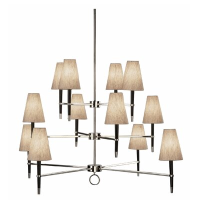 Ventana 12-Light Shaded Chandelier Finish: Polished Nickel