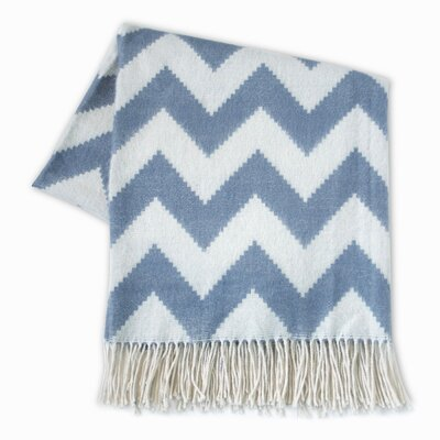 Zig Zag Wool Throw Color: Gray