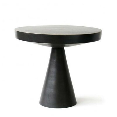 Hans End Table Finish: Solid Brass
