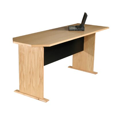 Modular Real Oak Wood Veneer 29.5 H x 71.25 W Desk Peninsula