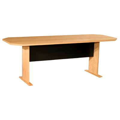 Prestige Modular Real Oak Wood Veneer Furniture Racetrack/Oval 29.5H x 84W x 32L Conference Table