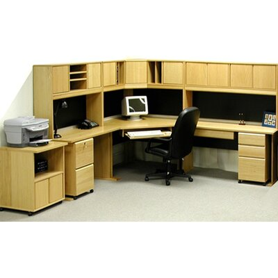 Modulars Corner Executive Desk Machine Cart Office Product Image 249