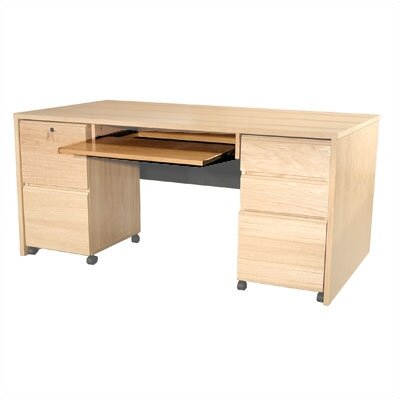 Rush Furniture Modular Real Oak Wood Veneer Panel Executive Desk Keyboard Tray at Sears.com