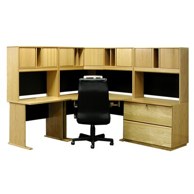 Office Modulars Computer Desk Hutch Chair Set Product Photo 1670