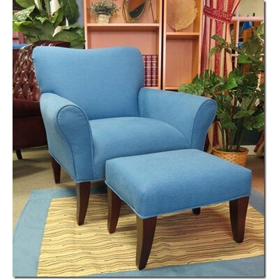 Cotton Chair and Ottoman
