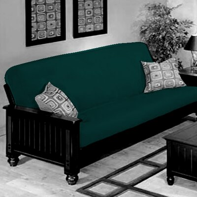 Box Cushion Futon Slipcover Upholstery: Teal