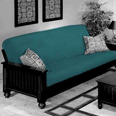 Box Cushion Futon Slipcover Upholstery: Turquoise