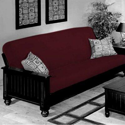 Box Cushion Futon Slipcover Upholstery: Burgundy