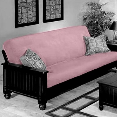 Box Cushion Futon Slipcover Upholstery: Pink