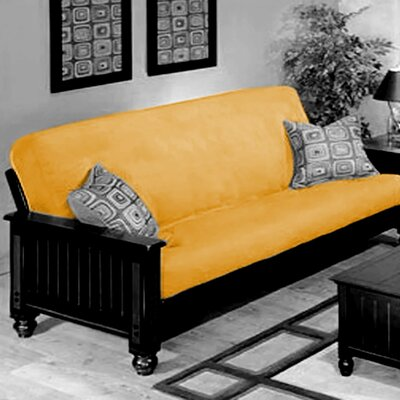 Box Cushion Futon Slipcover Upholstery: Yellow