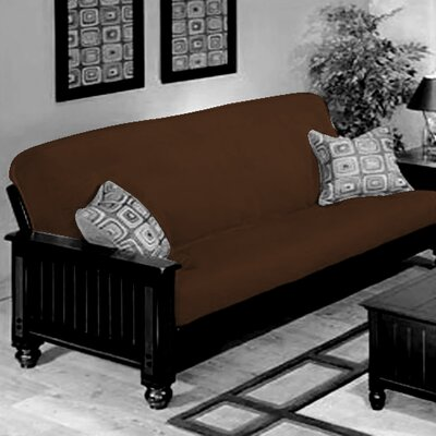 Box Cushion Futon Slipcover Upholstery: Tobacco