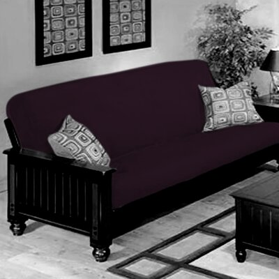 Box Cushion Futon Slipcover Upholstery: Grape