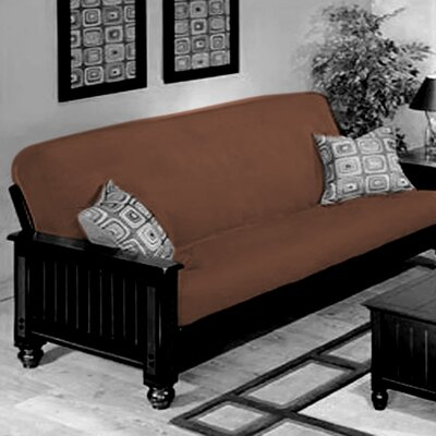 Box Cushion Futon Slipcover Upholstery: Coffee