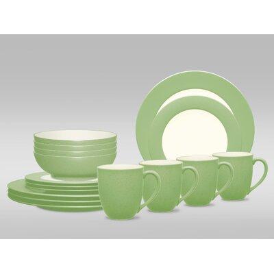 Colorwave Rim 16 Piece Dinnerware Set, Service for 4 8094-16X