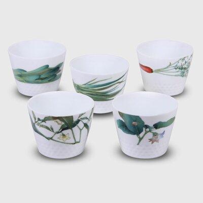 Kyoka Syunsai 5-Piece 7 oz. Japanese Cup Set 037725401430