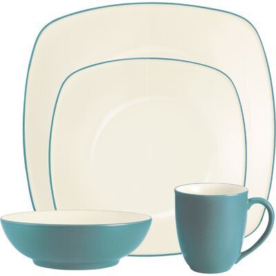 Colorwave 4 Piece Place Setting Color: Turquoise 037725558745