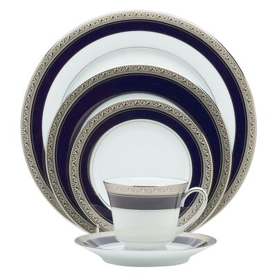 Crestwood Cobalt Platinum 20 Piece Dinnerware Set, Service for 4 037725299372