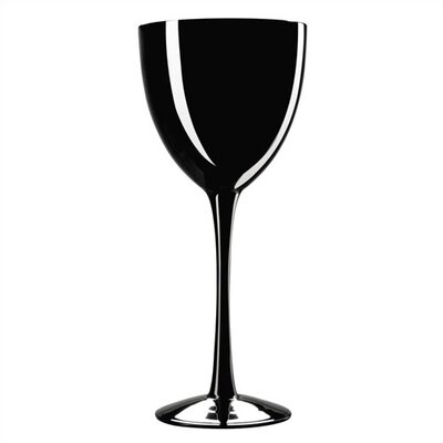 Palais Black 8 oz. Wine Glasses (Set of 4)