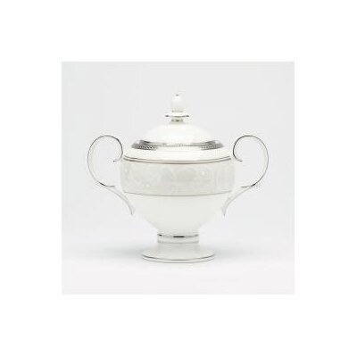 Satin Lace 9 Oz Sugar Bowl With Cover