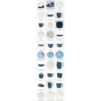 Noritake-colorwave Blue Holiday Accent Plate