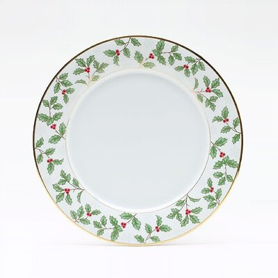 Holly And Berry Gold 10.5 Dinner Plate (set Of 4)