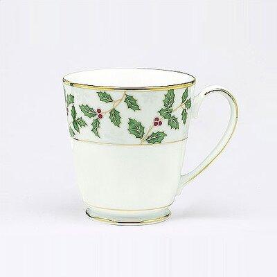Holly And Berry Gold 12 Oz. Mug Set