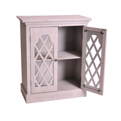Haven Lattice Cabinet Finish: Antique Light Gray