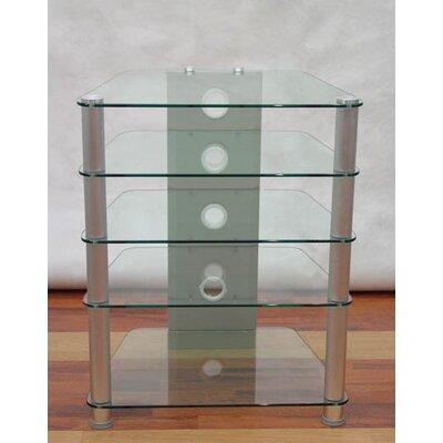 AVM 5 Audio Rack Glass Color: Clear