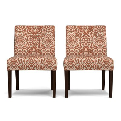 Lennon Side Chair Upholstery: Orange