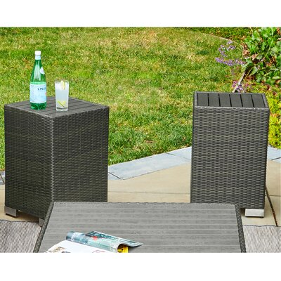 Lachesis Rattan End Table Set Color: Gray