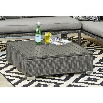 Lachesis Rattan Cocktail Table Color: Gray