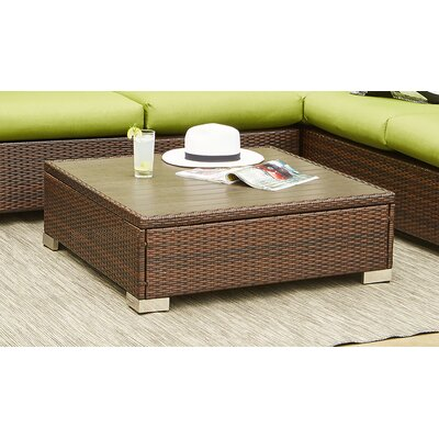 Lachesis Rattan Cocktail Table Color: Brown