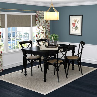 Albina 5 Piece Dining Set Finish: Black