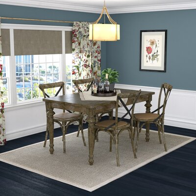 Albina 5 Piece Dining Set Finish: Burnt Oak