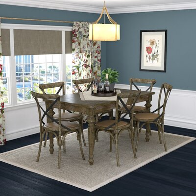 Albina 7 Piece Dining Set Finish: Burnt Oak