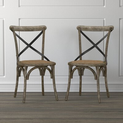 Canfield Solid Wood Dining Chair Color: Antique Burnt Oak