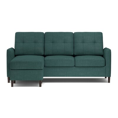 Bates Reversible Sectional Upholstery: Peacock Blue