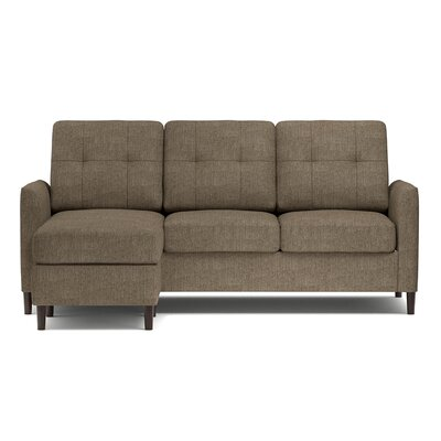 Bates Reversible Sectional Upholstery: Mocha Brown